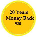 20 Years Money Back policy 920