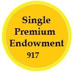 Single Premium Endowment Policy 917